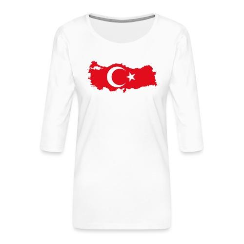 Tyrkern - Dame Premium shirt med 3/4-ærmer