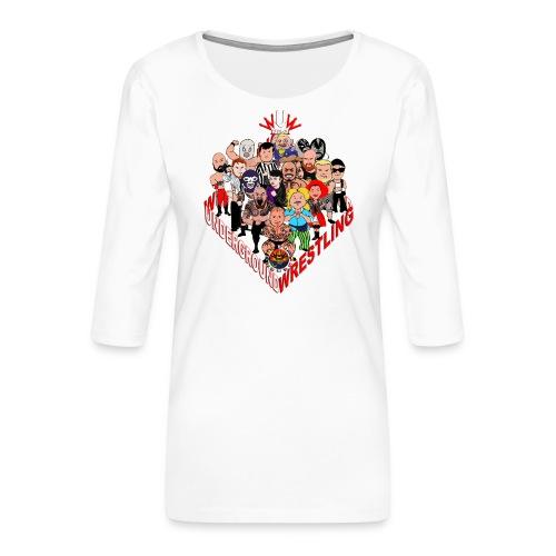 comics-wrestler - Frauen Premium 3/4-Arm Shirt