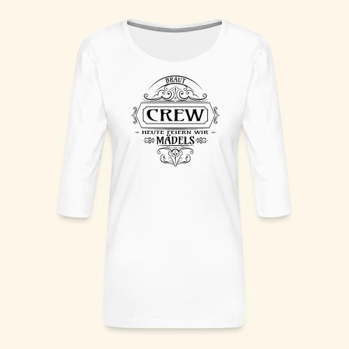Junggesellinnenabschied - Braut Crew Team Bride - Frauen Premium 3/4-Arm Shirt
