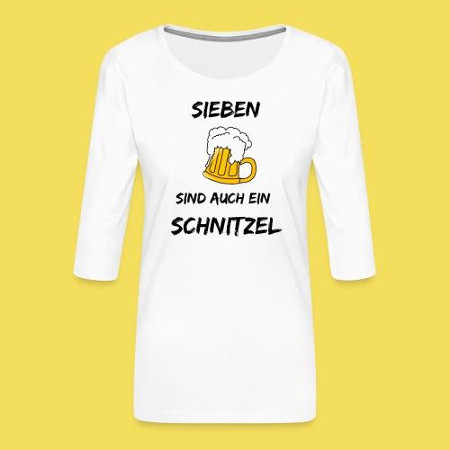 Sieben Bier - schwarz - Frauen Premium 3/4-Arm Shirt