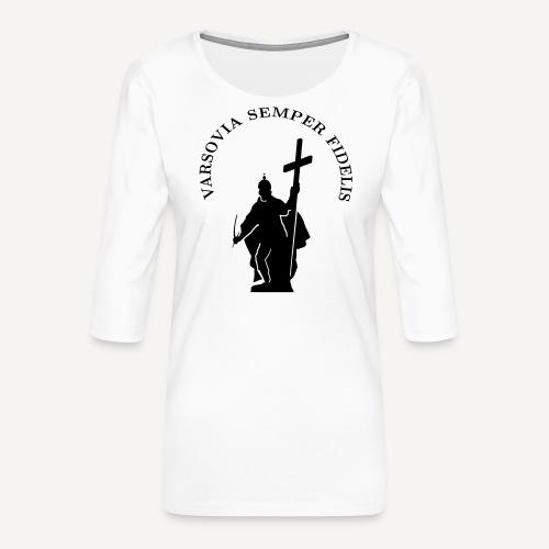 varsoviasf - Koszulka damska Premium z rękawem 3/4