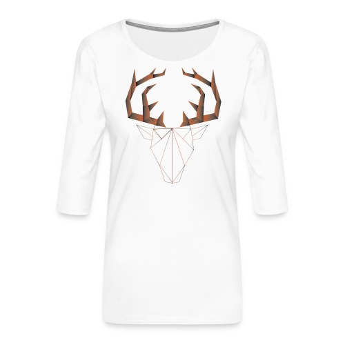 LOW ANIMALS POLY - T-shirt Premium manches 3/4 Femme