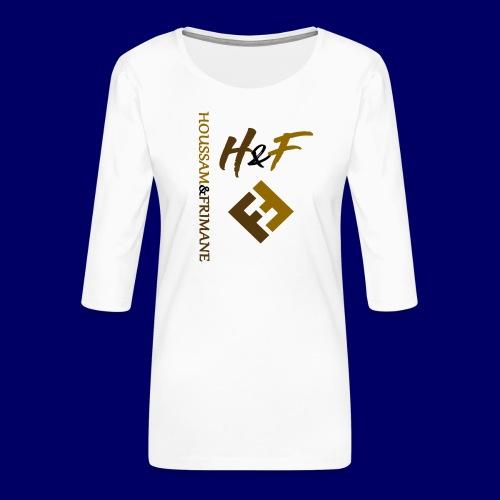 h&F luxury style - Maglietta da donna premium con manica a 3/4