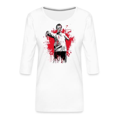 zombie - T-shirt Premium manches 3/4 Femme