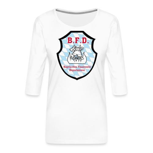 Inoffizielles bayrisches Feuerwehrabzeichen - Frauen Premium 3/4-Arm Shirt