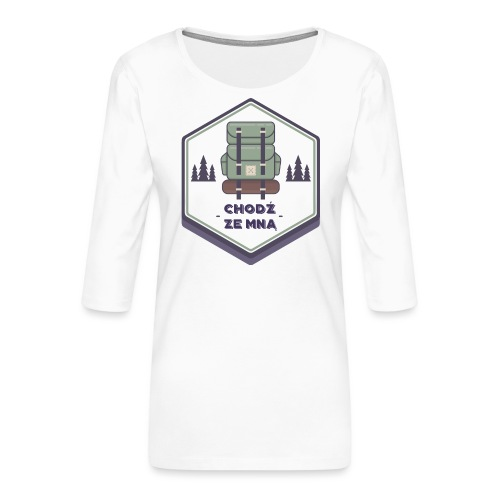 Górska wycieczka - Koszulka damska Premium z rękawem 3/4