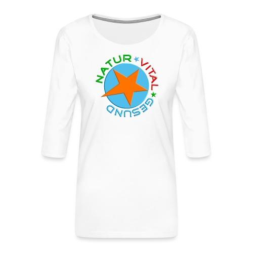 Natur-vital-gesund - Frauen Premium 3/4-Arm Shirt