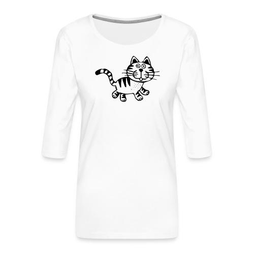 Friendly Cat - Frauen Premium 3/4-Arm Shirt