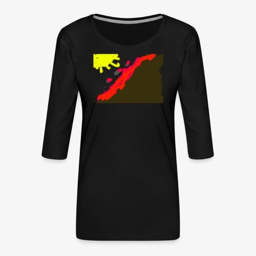 flowers - Dame Premium shirt med 3/4-ærmer