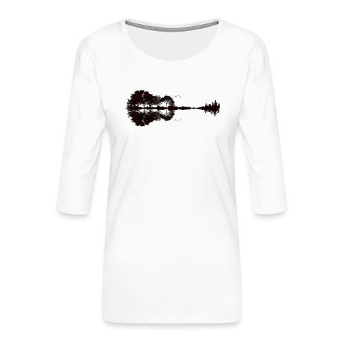 City of Guitar - Frauen Premium 3/4-Arm Shirt