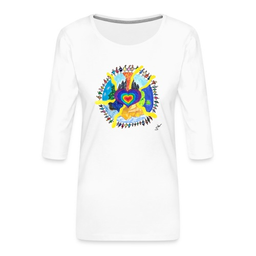 Herzwelt - Frauen Premium 3/4-Arm Shirt