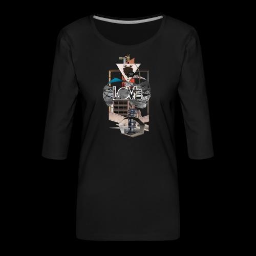 LOVE - Frauen Premium 3/4-Arm Shirt