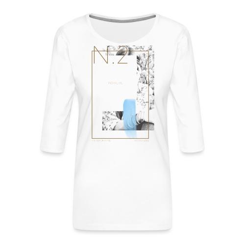 inspireme - Maglietta da donna premium con manica a 3/4