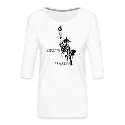 Liberty in progress - Koszulka damska Premium z rękawem 3/4