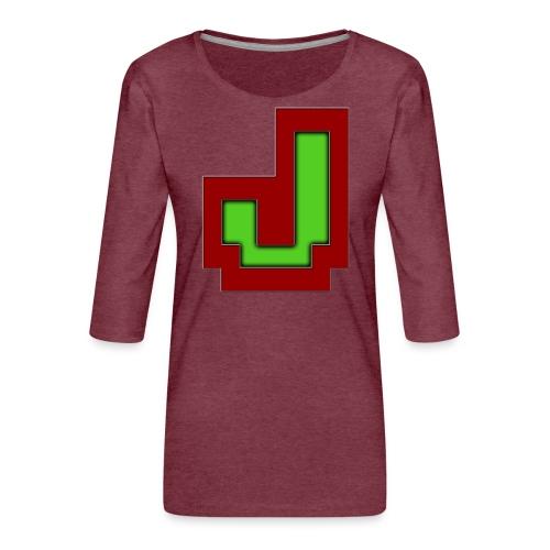 Stilrent_J - Dame Premium shirt med 3/4-ærmer