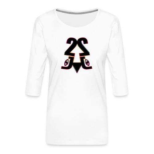 2j_Rainbow - Dame Premium shirt med 3/4-ærmer