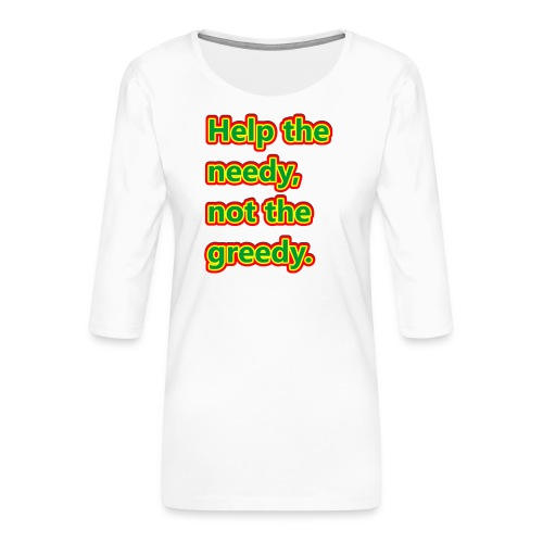 help - Women's Premium 3/4-Sleeve T-Shirt