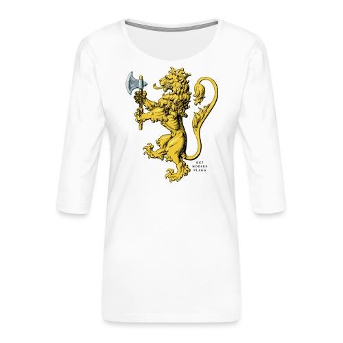 Den norske løve i gammel versjon - Premium T-skjorte med 3/4 erme for kvinner