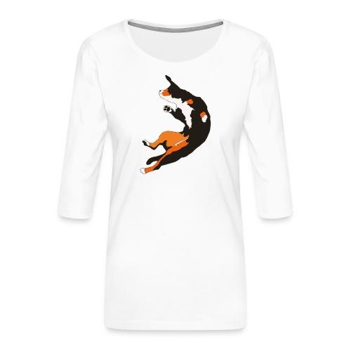 Entlebucher Hopp - Premium-T-shirt med 3/4-ärm dam