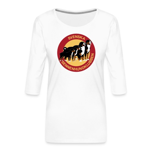 Sennenhundklubben - Premium-T-shirt med 3/4-ärm dam