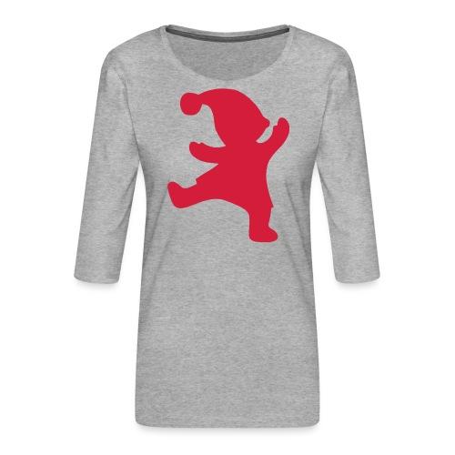 Santas helper - Naisten premium 3/4-hihainen paita
