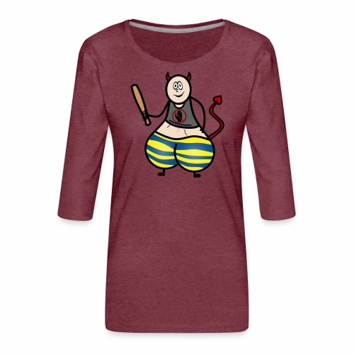 Devil No Touchies Charlie - Women's Premium 3/4-Sleeve T-Shirt