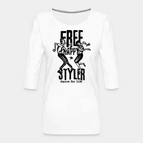 freestyler de danse styler gratuit - T-shirt Premium manches 3/4 Femme
