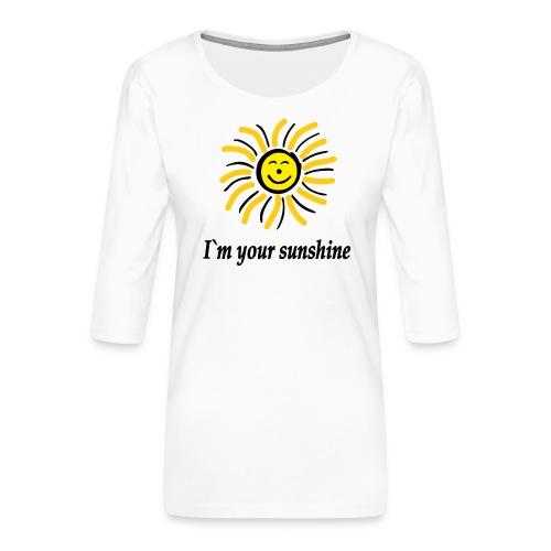 2i m youre sunshine Gelb Top - Frauen Premium 3/4-Arm Shirt