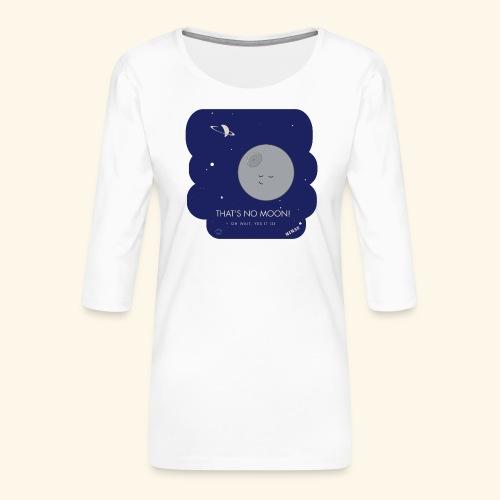 Mimas - Thats no moon - Premium-T-shirt med 3/4-ärm dam