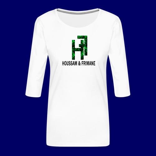 h&f - Maglietta da donna premium con manica a 3/4