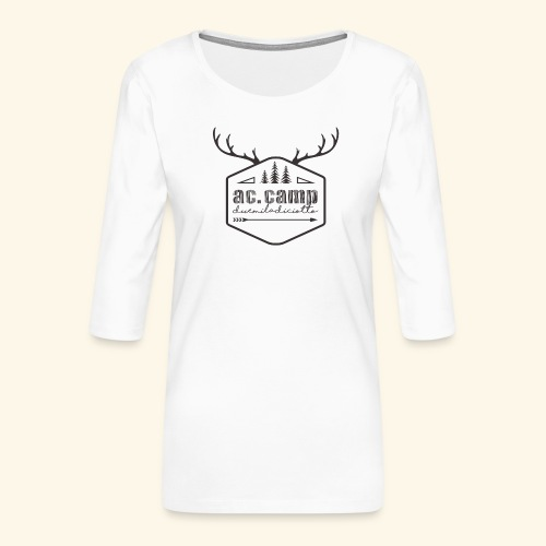 ac camp - Maglietta da donna premium con manica a 3/4