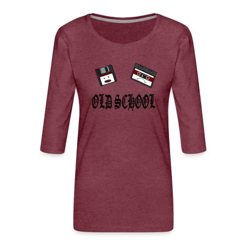 Old School Design - Frauen Premium 3/4-Arm Shirt