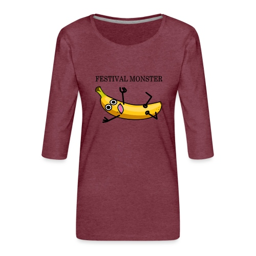 Festival Banane - Frauen Premium 3/4-Arm Shirt