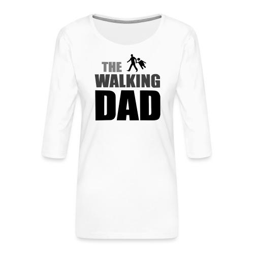 the walking dad auf dem Weg in die lustige Bar - Frauen Premium 3/4-Arm Shirt