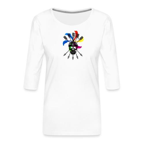 Blaky corporation - Camiseta premium de manga 3/4 para mujer