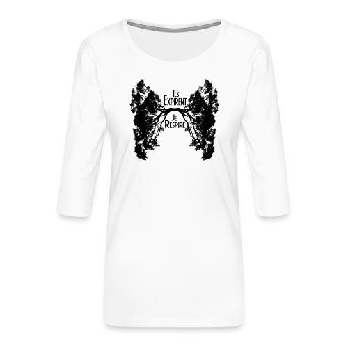 Oxygène - T-shirt Premium manches 3/4 Femme