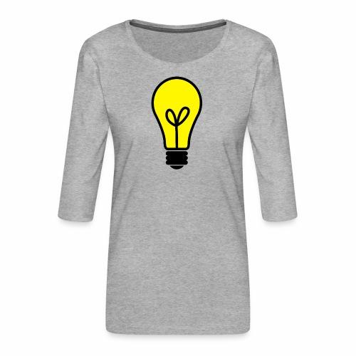 light bulb - Frauen Premium 3/4-Arm Shirt