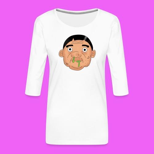 Fat boy - Camiseta premium de manga 3/4 para mujer