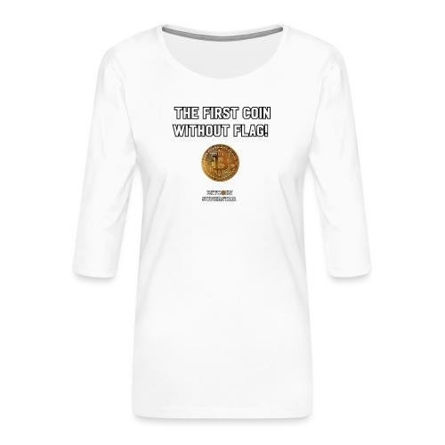 Coin with no flag - Maglietta da donna premium con manica a 3/4