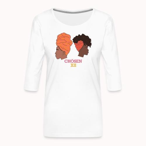 Headwrapped Princesses - Vrouwen premium shirt 3/4-mouw
