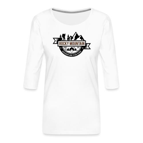 ROCKY MOUNTAIN - Maglietta da donna premium con manica a 3/4