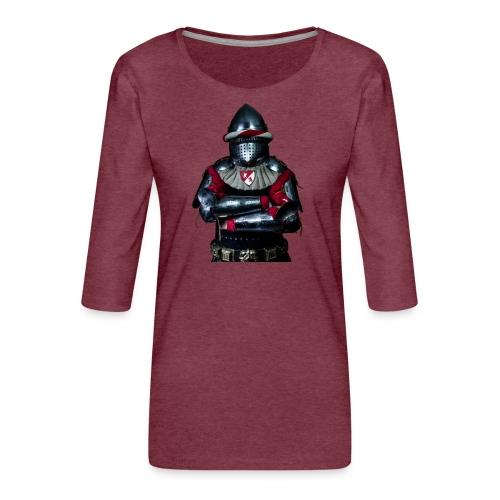chevalier.png - T-shirt Premium manches 3/4 Femme