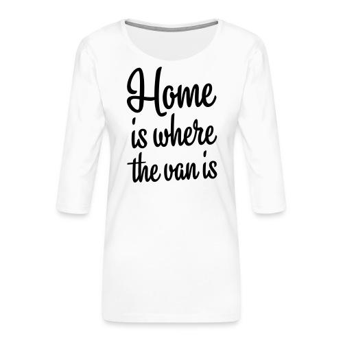 camperhome01b - Premium T-skjorte med 3/4 erme for kvinner