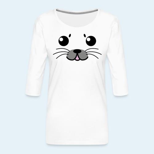 Foca bebé (Cachorros) - Camiseta premium de manga 3/4 para mujer