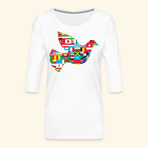 countrys t-shirt - Camiseta premium de manga 3/4 para mujer