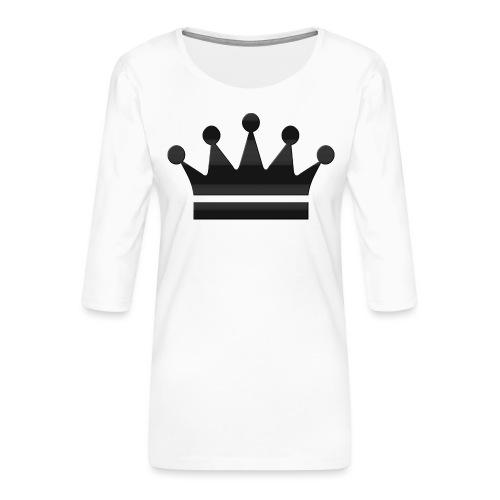 crown - Vrouwen premium shirt 3/4-mouw