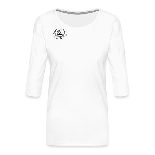 logo på brystet - Dame Premium shirt med 3/4-ærmer
