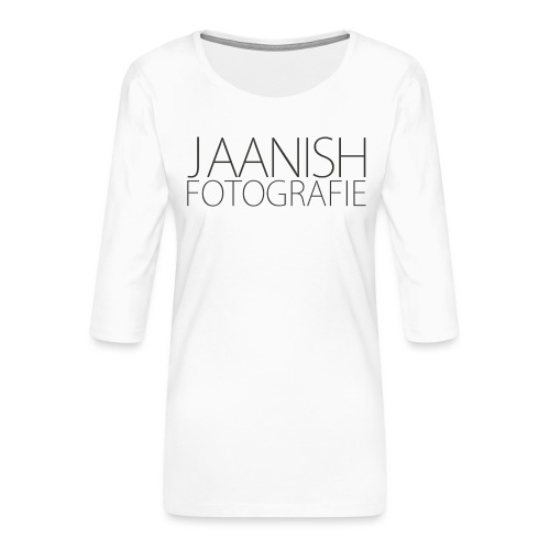 LOGO JAANISH PNG - Vrouwen premium shirt 3/4-mouw