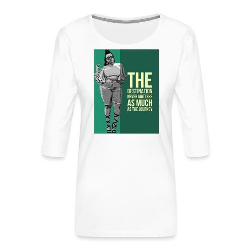 girlquote - T-shirt Premium manches 3/4 Femme