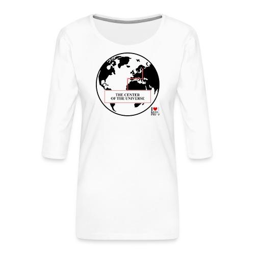 THE CENTER OF THE UNIVERSE - Naisten premium 3/4-hihainen paita